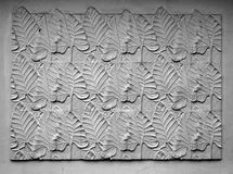 Gravierte Schablone der Blätter Stockfotos