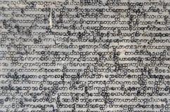 Gravierter birmanischer Text Stockbild