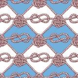 Graviertes Muster mit Seilen Stockfotografie