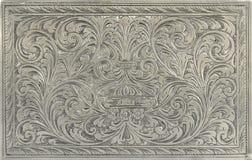 Graviertes Silber Stockfoto