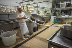 GRAVINA στην ΠΟΥΛΙΑ, ΙΤΑΛΙΑΣ - 13 Ιουνίου, 2015: Τυρί μ Caciocavallo Στοκ Εικόνες