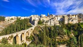 Gravina in Puglia,Basilicata. Gravina in Puglia,view with antique bridge, Italy royalty free stock photos