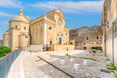 Cathedral of Gravina in Puglia, province of Bari, Apulia, southern Italy. royalty free stock photo