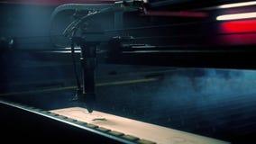 Graving βίντεο χρόνος-σφάλματος εξοπλισμού Lazer απόθεμα βίντεο