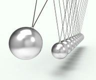 Gravità di Newton Cradle Shows Energy And Immagini Stock Libere da Diritti