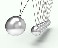 Gravité de Newton Cradle Shows Energy And Images libres de droits