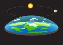 Gravitation sur l'illustration plate de concept de la terre de planète avec et les flèches qui expositions comment force de la gr illustration libre de droits