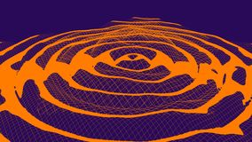 A Gravitational waves abstract duotone illustration royalty free stock photography