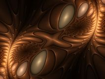 Gravitational pull. Attractive spiral fractal with sheen Stock Image