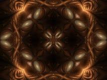 Gravitational pull kaleidoscope too. Ornate fractal kaleidoscope with sheen Stock Image