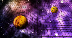 Gravitational Space Time Distortions. Abstract Illustration Royalty Free Stock Images