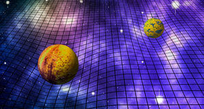 Gravitational Space Time Distortions. Abstract Illustration Royalty Free Stock Photography