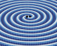 Gravitational Waves. Around a binary system of black holes Royalty Free Stock Image