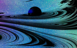 Gravitational Waves. Space background Suitable for Custom Content Royalty Free Stock Image