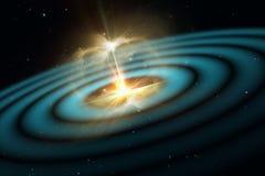 Gravitationswellen, Erschütterungen im Zeit-raum Stockfotografie