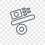 Gravity concept vector linear icon isolated on transparent backg royalty free illustration