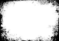 Gravity splat. Black and white ink splat border in landscape Stock Images