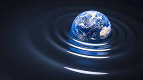 Gravity wave on Earth Royalty Free Stock Images