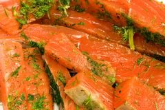Gravlax Royalty Free Stock Image