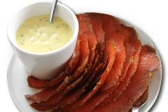 Gravlax Salmon Royalty Free Stock Images