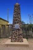 Gravsten Arizona, USA, April 6, 2015, kängakullekyrkogård, gammalt västra stadhem av Doc Holliday och Wyatt Earp och Gunfight på  Arkivfoton