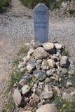 Gravsten Arizona, USA, April 6, 2015, kängakullekyrkogård, gammalt västra stadhem av Doc Holliday och Wyatt Earp och Gunfight på  Royaltyfria Foton