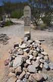 Gravsten Arizona, USA, April 6, 2015, kängakullekyrkogård, gammalt västra stadhem av Doc Holliday och Wyatt Earp och Gunfight på  Royaltyfria Bilder
