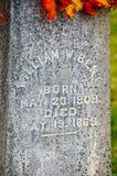 Gravsten av William Bent Arkivbilder