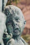 Gravsten för religion för gammal kyrkogård för konst för statynaturskulptur forntida royaltyfri foto