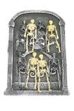 gravsten isolerade skelett Royaltyfria Bilder
