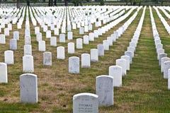 Gravstenar på den Arlington medborgaren Arkivbilder