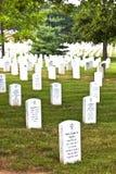 Gravstenar på den Arlington medborgaren Arkivfoton