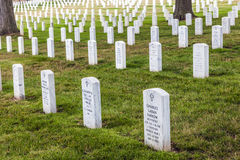 Gravstenar på den Arlington medborgaren Royaltyfri Fotografi