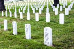 Gravstenar på den Arlington medborgaren Arkivbild