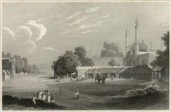 Gravura a água-forte velha de Deli Imagem de Stock Royalty Free
