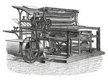 Gravura antiga da máquina impressora Fotos de Stock