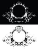 Gravura antiga do frame ilustração royalty free