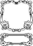 Gravura antiga do frame ilustração stock
