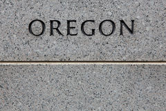 Gravura de Oregon Fotos de Stock Royalty Free