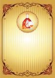 A gravura do conhaque na madeira Fotos de Stock Royalty Free