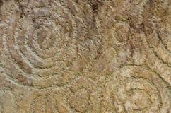Gravura espiral da rocha, Knowth Imagem de Stock