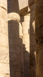 Gravuras em colunas em antigo imagem de stock
