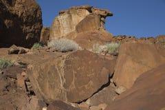 Gravuras em Twyfelfontein, Namíbia da rocha Imagem de Stock Royalty Free