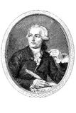 Gravure of Antoine Lavoisier. Gravure of a french chemist Antoine Laurent Lavoisier (1743 - 1794 royalty free illustration