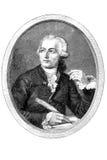 Gravure of Antoine Lavoisier. Gravure of a french chemist Antoine Laurent Lavoisier (1743 - 1794 Stock Photo