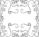 Gravure de cadre de frontière de vintage de vecteur avec rétro Photo libre de droits