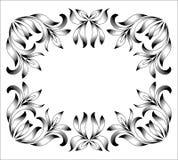 Gravure de cadre de frontière de vintage avec le rétro modèle d'ornement dans la conception décorative de style floral antique illustration de vecteur