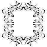 Gravure de cadre de frontière de vintage avec le rétro modèle d'ornement dans la conception décorative de style floral antique illustration stock