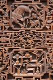 Gravure sur bois antique exquise Photos stock