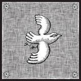 Gravure sur bois d'oiseau Image libre de droits
